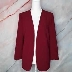 THE LIMITED Cranberry Red Blazer Jacket